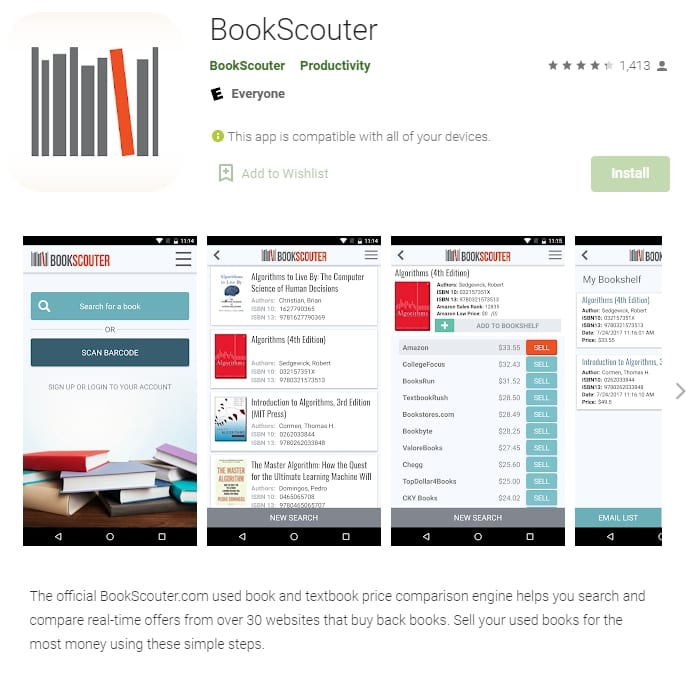 bookscounter money making mobile apps